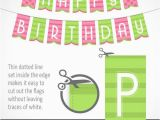 Make A Happy Birthday Banner Online Printable Banner Happy Birthday In Green and Pink