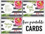 Make and Print Birthday Cards for Free Free Printable Greeting Cards Thank You Thinking Of You