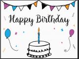 Make and Print Birthday Cards Free Printable Birthday Card Template