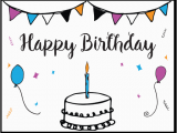 Make Birthday Card Online Printable Free Free Printable Birthday Card Template
