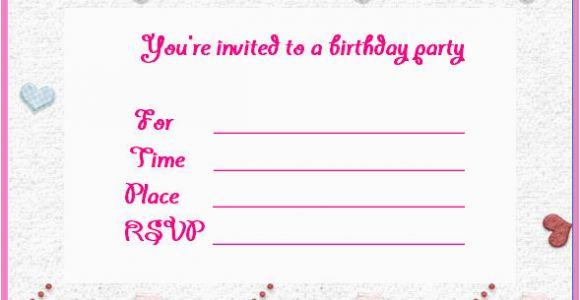 Make Birthday Invitation Cards Online for Free Printable Birthday Invites Make Birthday Invitations Online Free