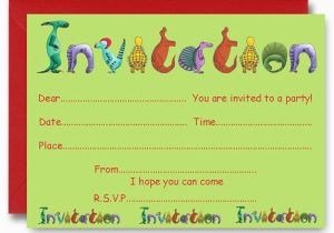 Make Birthday Party Invitations Online For Free To Print 17 Dinosaur How Sample