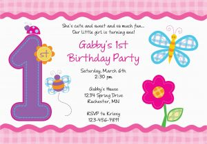 Make Your Own 1st Birthday Invitations Free Invitation Templates Printable Best