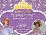 Make Your Own 1st Birthday Invitations sofia the First Birthday Invitation Print Your Own by