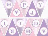 Make Your Own Happy Birthday Banner Items Similar to Pink and Purple Happy Birthday Banner