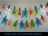 Make Your Own Happy Birthday Banner Make Your Own Birthday Pennant Banner A Sparkle Of Genius