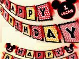 Make Your Own Happy Birthday Banner Make Your Own Mickey Mouse Happy Birthday Party Paper Flag