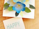 Making A Birthday Card Online Free Printable Happy Birthday Card with Pop Up Bouquet A