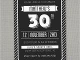 Male 30th Birthday Invitations Birthday Invites attractive Design and Present 30th