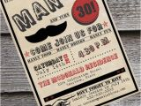 Male 30th Birthday Invitations Man Up Guy 39 S 30th or 40th Birthday Invitation New Colors