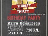 Male 30th Birthday Invitations Men 30th Birthday Chalkboard Invitation Adult Birthday