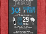 Male 30th Birthday Invitations Surprise 21st 30th 40th 50th Chalkboard Style Birthday