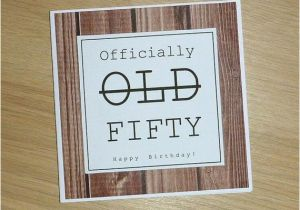 Male 50th Birthday Cards Or Female Card Handmade By Vickigcards