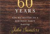 Male 60th Birthday Invitations 60th Birthday Dark Wood Gold Foil Male Birthday Invitation