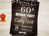 Male 60th Birthday Invitations Surprise 60th Birthday Invitation Man Surprise Birthday Party
