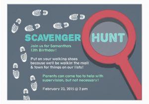Mall Scavenger Hunt Birthday Party Invitations Cool Scavenger Hunt Invitation Zazzle