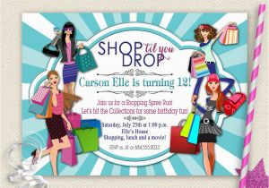 Mall Scavenger Hunt Birthday Party Invitations Girls Day Out Invitation Shopping Birthday Invitation Mall