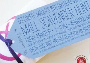 Mall Scavenger Hunt Birthday Party Invitations Mall Scavenger Hunt Printable Party Pack by Margotmadison
