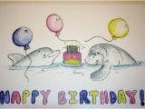 Manatee Birthday Card Items Similar to Dolphin and Manatee Birthday Card On Etsy