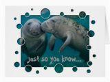 Manatee Birthday Card Manatee Love Valentine 39 S Day Greeting Cards Zazzle