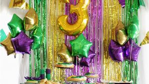 Mardi Gras Birthday Decorations A Mardi Gras Third Birthday Party Style Your Senses