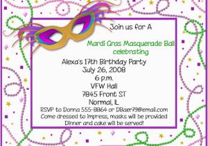 Mardi Gras Birthday Invitation Wording Mardi Gras Birthday Invitations Ideas Bagvania Free