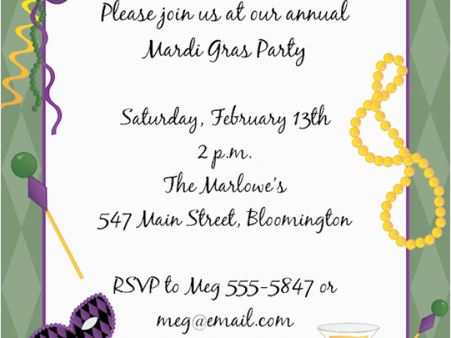Download by size:Handphone Tablet Desktop (Original Size). Back To Mardi Gras Birthday Invitation Wording
