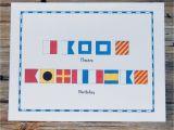 Marine Happy Birthday Card Nautical Flag Marine Alphabet Code Happy Birthday Card Set Of