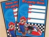 Mario Birthday Invites Free Printable Mario Kart Birthday Invitation Set