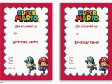 Mario Birthday Invites Free Printable Super Mario Bros Invitation Template Free