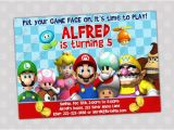 Mario Birthday Invites Items Similar to Super Mario Bros Birthday Party