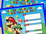 Mario Birthday Invites Mario Birthday Invitations Template Resume Builder