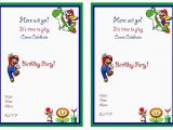 Mario Birthday Invites Super Mario Birthday Invitations Super Mario Birthday