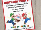 Mario Birthday Invites Super Mario Bros Diy Printable Birthday Invitation by Carta
