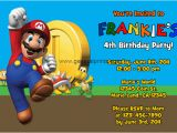 Mario Birthday Invites Super Mario Invitations General Prints