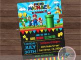 Mario Birthday Invites Super Mario Party Invitation Super Mario Birthday Invitation