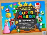 Mario Birthday Invites Super Mario Printable Super Mario Party Mario Chalkboard