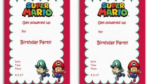 Mario Birthday Party Invitations Free Free Printable Super Mario Bros Invitation Template Free