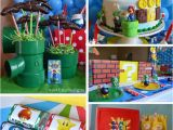 Mario Bros Birthday Decorations Kara 39 S Party Ideas Super Mario Party Planning Ideas Cake