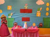 Mario Bros Birthday Decorations Super Mario Birthday Party Featuring Princess Peach