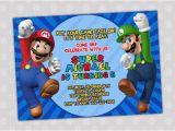 Mario Brothers Birthday Invitations 3 Lovely Super Mario Bros Birthday Invitations