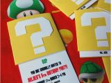 Mario Brothers Birthday Invitations Diy Super Mario Birthday Party Invitation A Step by Step