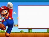 Mario Brothers Birthday Invitations Free Printable Super Mario Bros Invitation Template Free