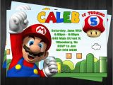 Mario Brothers Birthday Invitations Free Template Super Mario Bros Birthday Invitations