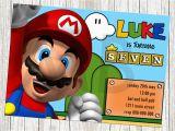 Mario Brothers Birthday Invitations Super Mario Birthday Invitations Bagvania Free Printable