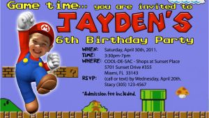 Mario Brothers Birthday Invitations Super Mario Birthday Invitations Bagvania Free Printable