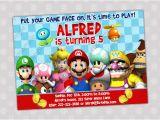 Mario Brothers Birthday Invitations Super Mario Bros Birthday Invitations Drevio Invitations