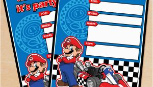 Mario Kart Birthday Invitations Free Printable Mario Kart Birthday Invitation Set