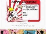 Martial Arts Birthday Invitations Items Similar to Karate Martial Arts Ninja Personalized