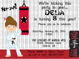 Martial Arts Birthday Invitations Martial Arts Birthday Invitations Ideas Bagvania Free